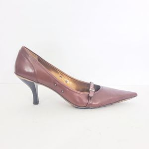 BCBGirls Leather Mary Jane Pointed Toe Pumps
